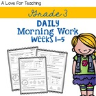 Morning Work Weeks 1-5