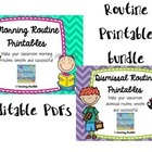Morning and Dismissal Routines Printable Bundle