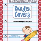 Moroccan Binder Covers &amp;Spine Inserts