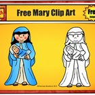 Mary Clip Art - Commercial Use License