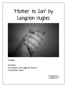 Mother to Son by Langston Hughes - poem and questions