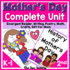 Mother's Day Activity Packet,Rdng., Writing, Math, Gifts,C