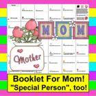 Mother's Day Booklet - 20 cloze sentences to choose from