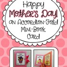Mother's Day Card Activity ~ Accordion Fold Mini-Book