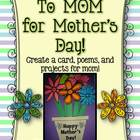 Mother&#039;s Day Card, Poetry, and Projects!