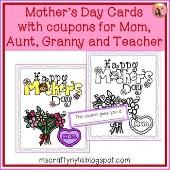 Mothers Day Colouring Card & Coupon