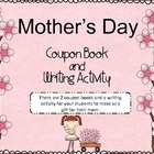 Mother's Day Coupon Book and Writing Activity (gift for mom)