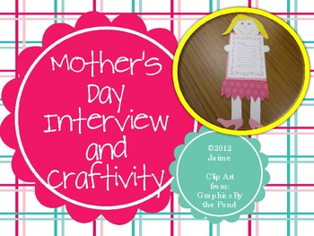 Mother's Day Craftivity & Writing Activity
