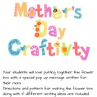 Mother&#039;s Day Craftivity,Pop-Up Message Flower Box (Austral
