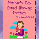 Mother&#039;s Day Critical Thinking FREEBIES!