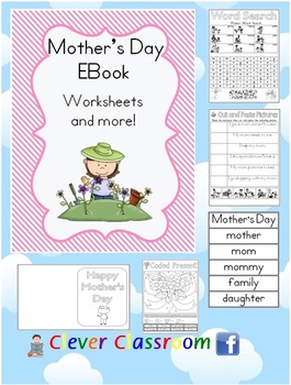 Mother's Day EBook Worksheets (US Spelling) - 50 pages