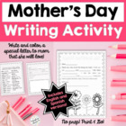 Mother's Day Fill-in Letter/Coloring Page - Spanish and English