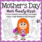 Mother's Day Flower Bouquet Math Goofy Glyph (6th Grade Co