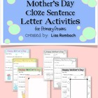 Mother&#039;s Day Letters, Cloze Sentence Writing Activity, Pri