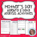 Mothers Day Math Activities {Algebra & Data Analysis}