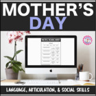 Mother's Day Speech Therapy Language and Articulation Packet