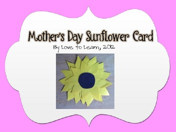 Mother's Day Sunflower Card