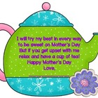 Mother's Day Tea Cup Card