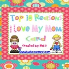 Mother&#039;s Day Top Ten  Craftivity