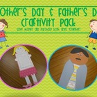 Mother&#039;s Day and Father&#039;s Day Craftivity Combo Pack