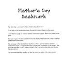Mother's Day bookmark template