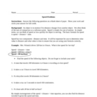 Motion Review Worksheet:  Speed Problems