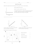 Motion Review Worksheet:  Speed Time Graphs