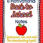 Motivational Back-to-School Notes {6 Notes - Just add the treat!}