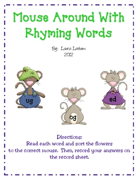 Mouse Around With Rhyming Words