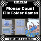 Mouse Count File Folder Games Autism Special Education
