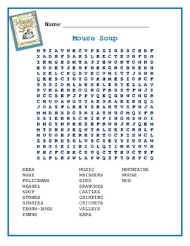 Mouse Soup Word Search