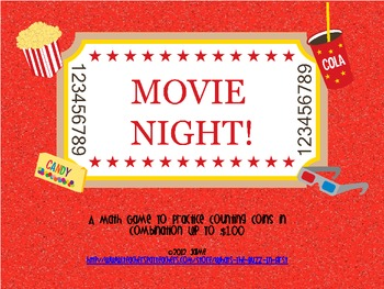 Movie Night Money Game {Coins in Combination to $1.00}