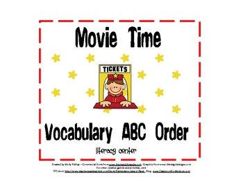 Movie Time ABC Order Activity
