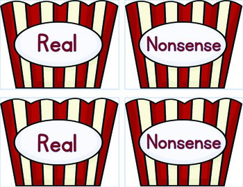 Movie Time (real or nonsense words)
