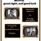 Movie: good night, and good luck Worksheet