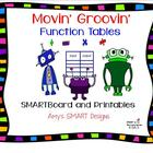 Movin' Groovin' Function Tables SMARTBoard and Game Printables