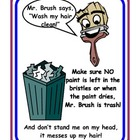 Mr. Brush - Wash your brushes Poster