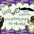 Mr. King I Mustache You a Question { A MLK Craftivity Pack}