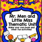 Mr. Men &amp; Little Miss Thematic Unit