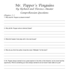 Mr. Popper's Penguins Comprehension Questions