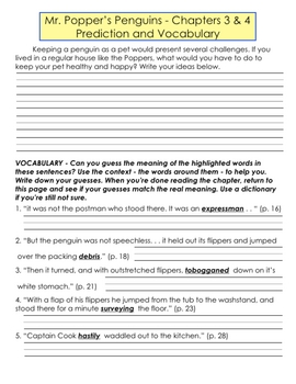Mr. Popper's Penguins Literature Unit