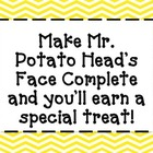 Mr. Potato Head Whole Class Incentive
