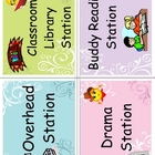 ~Mrs A&#039;s~ Literacy Work Station Card Labels
