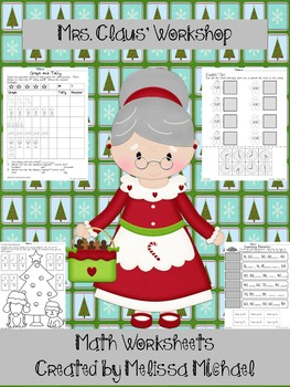 Mrs. Claus' Workshop - 11 Math Worksheets - CCSS