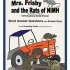 Mrs. Frisby and the Rats of NIMH Short Answer Questions