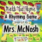 Mrs. McNosh - Match the Rhyme Game