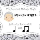 Mrs. White Ghostly Rhythm Sheet