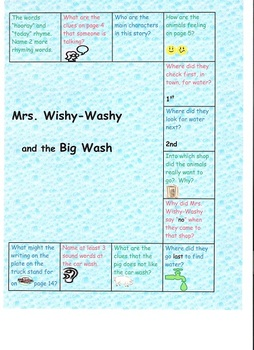 Mrs. Wishy-Washy and the Big Wash Board Game