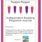 Muggie Maggie by Beverly Cleary Reading Response Journal