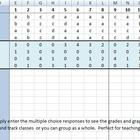 Mult Choice Score Sheet Template for Up to 3 Classes - 10 